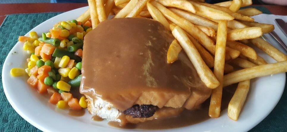 Hot Hamburger Sandwich