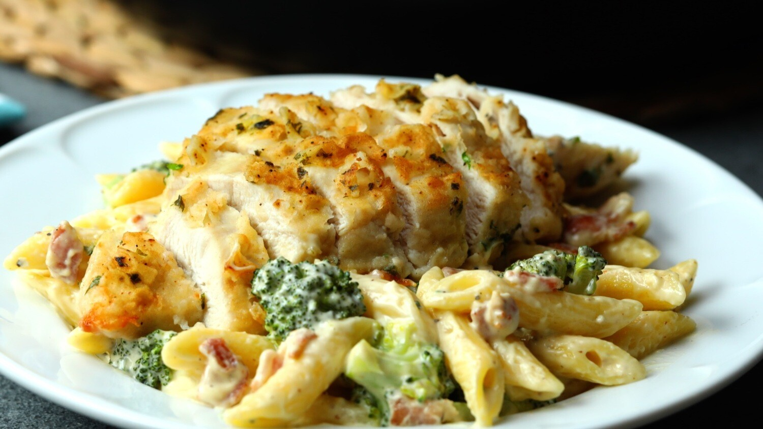 Baked Penne with Crispy Chicken