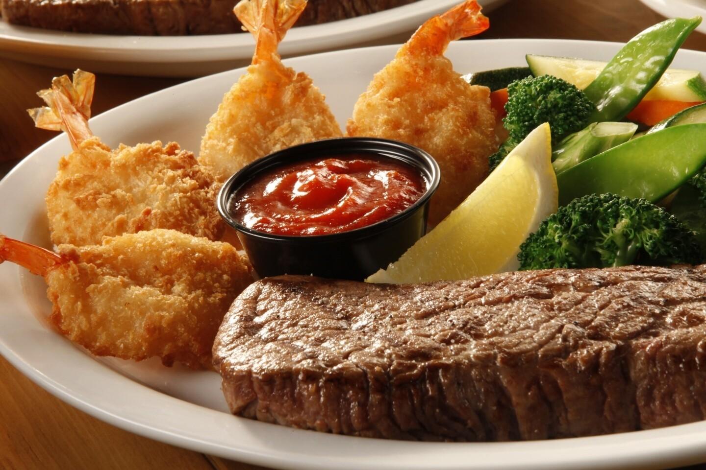 10oz Steak & Breaded Shrimps
