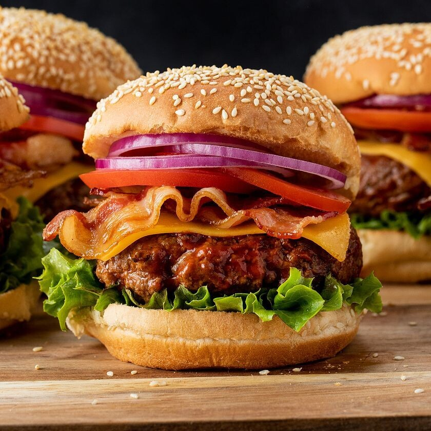 Bacon & Cheese Beef Burger