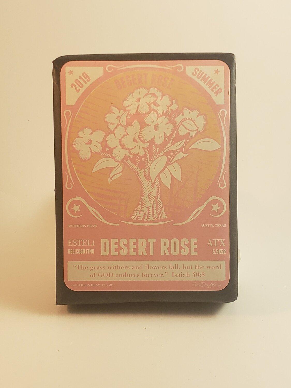 Southern Draw Rose of Sharon Desert Rose Claro Belicoso Fino 5 1/2 x 52