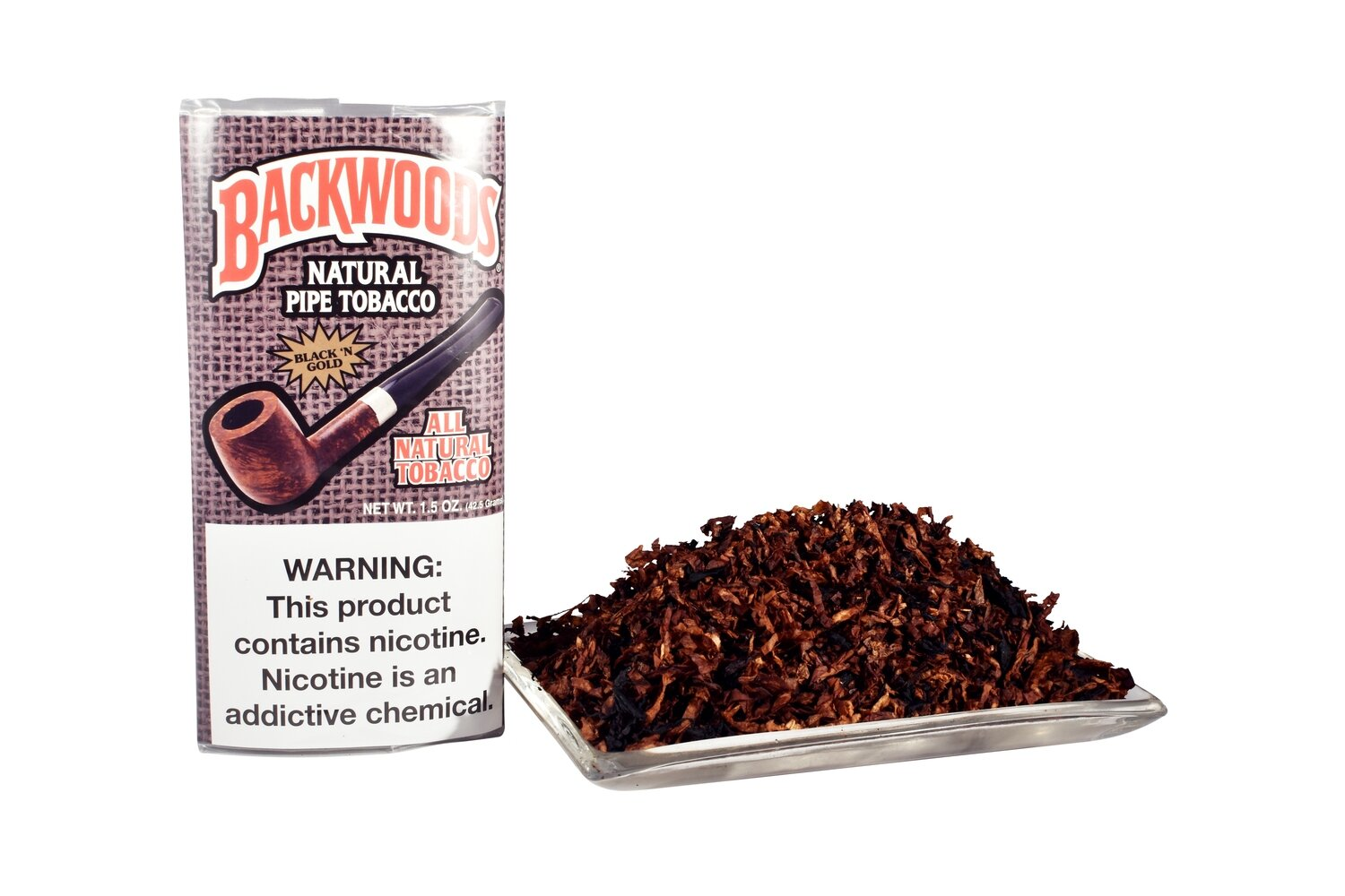 Sutliff Backwoods Black N Gold Pipe Tobacco 1.5 OZ Pouch