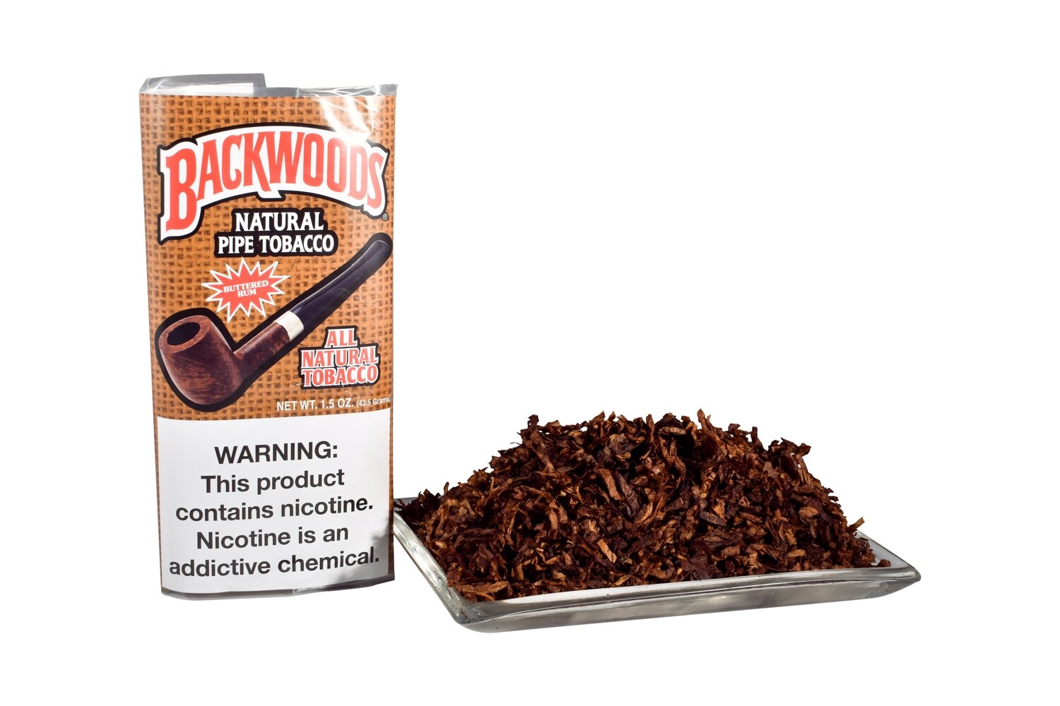 Sutliff Backwoods Buttered Rum Pipe Tobacco 1.5 OZ Pouch