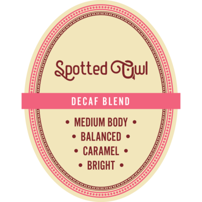 Decaf Blend Light Roast 16 oz Whole Bean