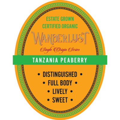 Tanzanian Peaberry 16 oz Whole Bean