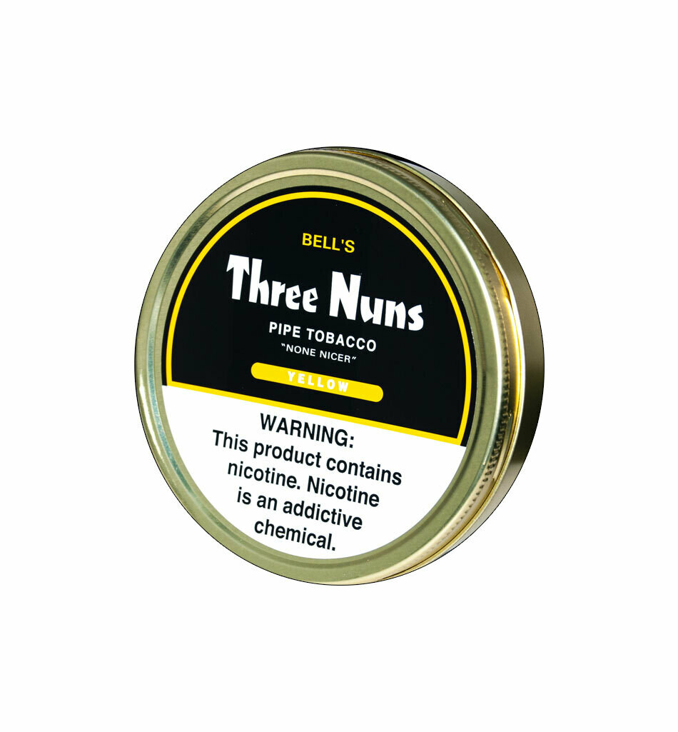 Sutliff Three Nuns Yellow Pipe Tobacco 1.75 oz Tin