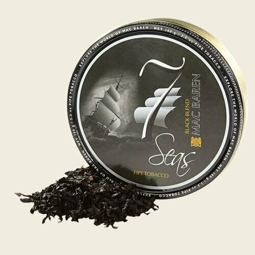Sutliff 7 Seas Black Pipe Tobacco 3.5 oz Tin