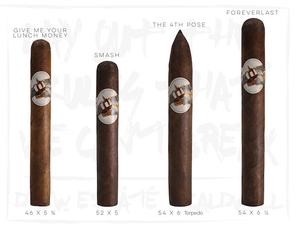 Caldwell All Out Kings Smash Robusto 5 x 52 Single Cigar