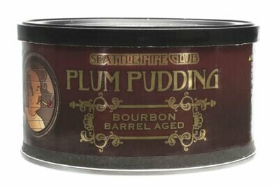 Seattle Pipe Club Plum Pudding Barrel Aged 2 Oz Tin