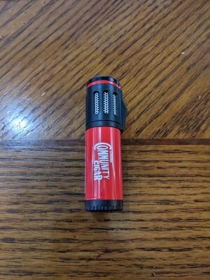 Visol VLR402501 Artemis Triple Flame Lighter Red