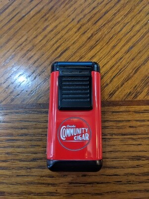 Visol VLR403701 Antero Triple Torch Lighter Red