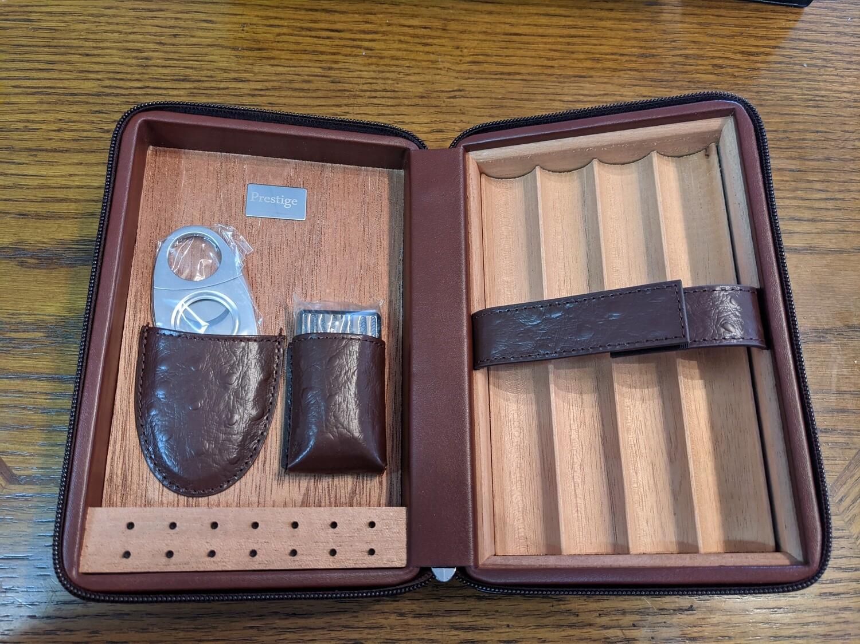 Manhattan Luxury Cigar Case With Accessories Brown