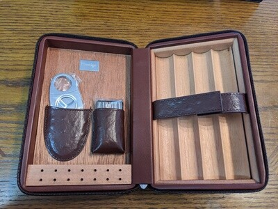 Manhattan Luxury Cigar Case With Accessories Brown