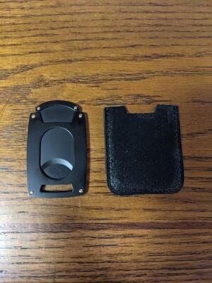 Visol VCUT717BK Matte Black Guillotine Pocket Cigar Cutter