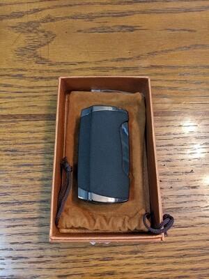 Visol VLR296001 Wilson Black Wrinkle Double Torch Cigar Ligjter