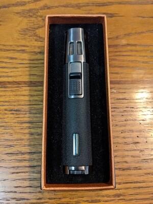 Visol VLR292001 Duojet Black Wrinkle Double Torch Pen Cigar Lighter