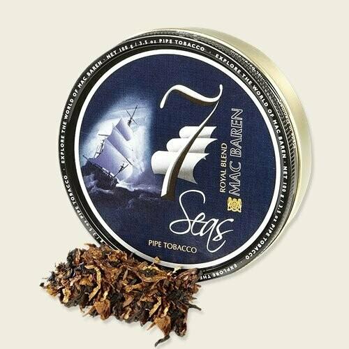 Sutliff Mac Baren 7 Seas Royal Blend Pipe Tobacco 3.5 Oz Tin