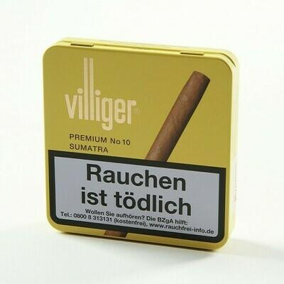 Villiger Premium #10 Sumatra No Filter10 Pack