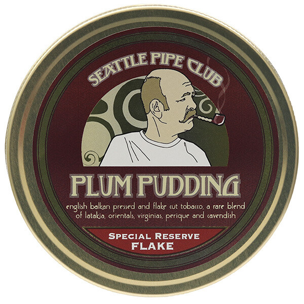 Seattle Pipe Club Plum Pudding Special Reserve Flake 2oz Tin