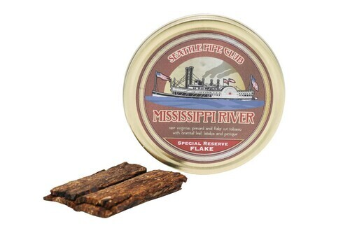 Seattle Pipe Club Mississippi River Special Reserve Flake 2oz tin