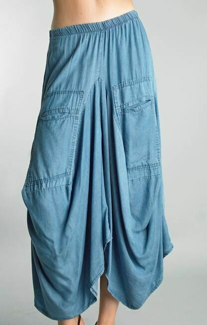 Tempo Paris Denim Bubble Skirt 1