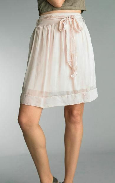 PT Mauve Silk short Skirt with tie