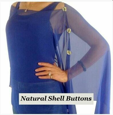 MS Royal Blue with Buttons Cape