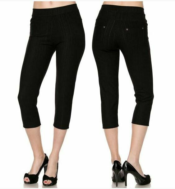 MS Black leggings capri