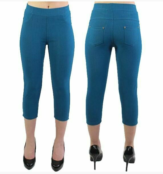 MS teal leggings capri