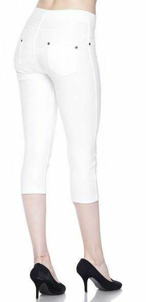 MS White Capri leggings