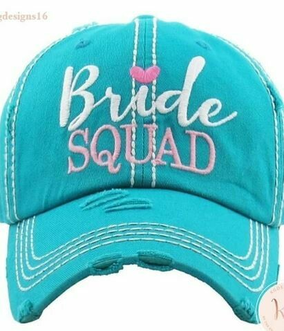 Bride Squad Bachelorette Distressed Trucker Baseball Hat