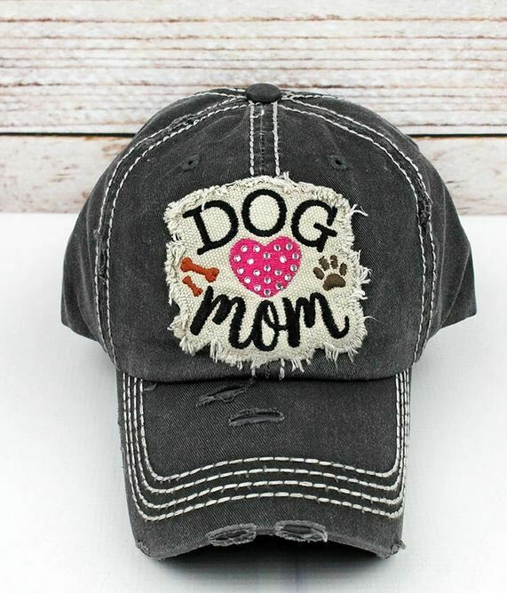 Black Rhinestone Dog Mom