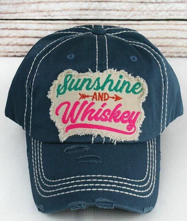 Blue Sunshine and Whiskey Hat