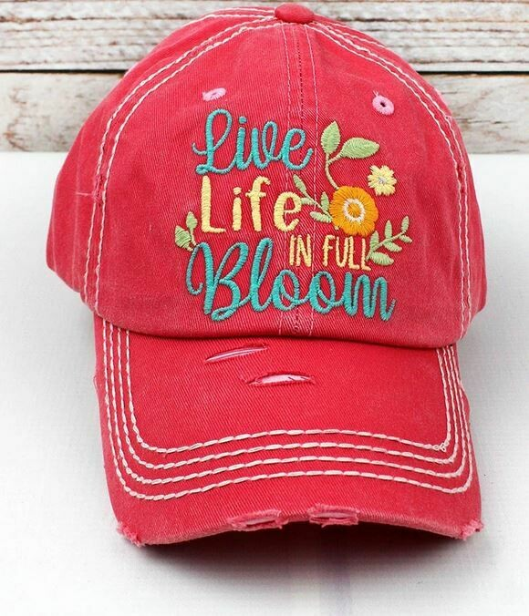 Coral Live Life Bloom Hat