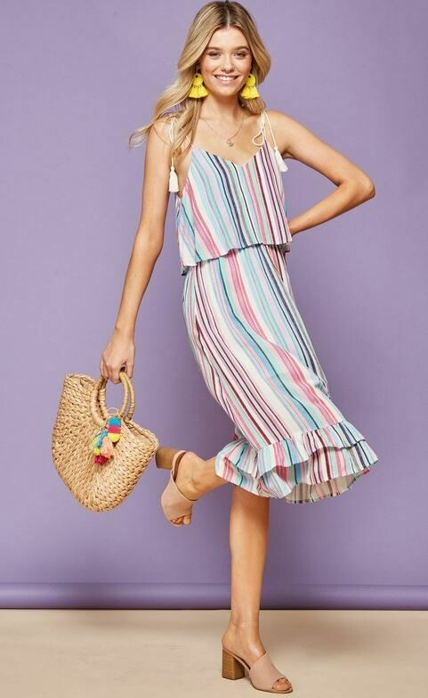 AUBlue Multi Chiffon Dress