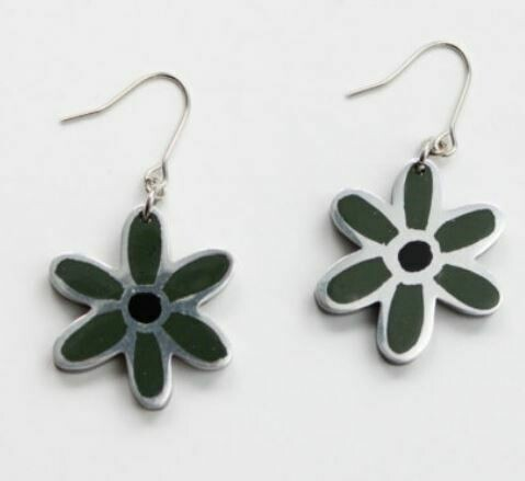 Sylca Army Green Earrings