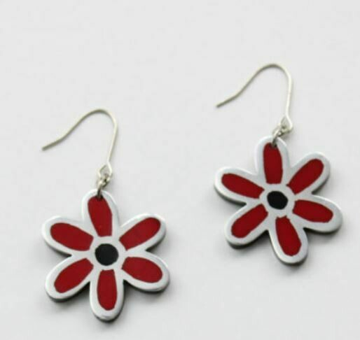 Sylca Red Earrings