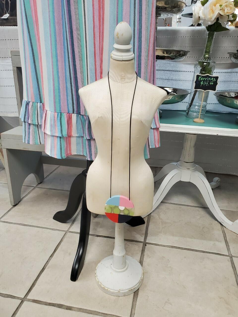 Sylca Colorful Polka dot necklace