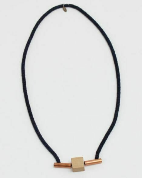 Sylca Contemporary Slip-On Necklace with Yellow Bead