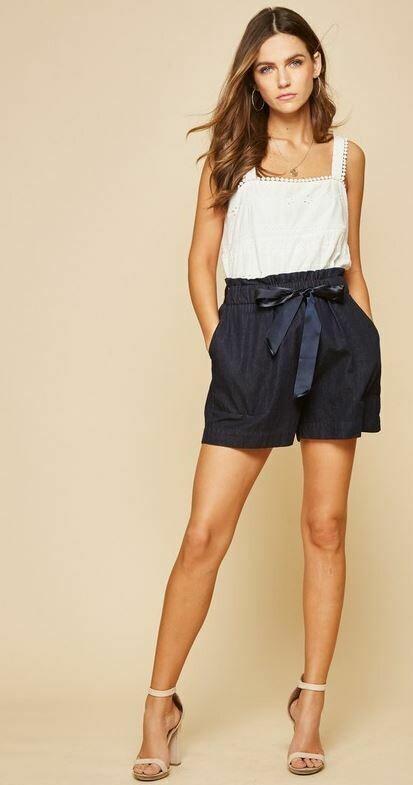 ANdree Dark Denim shorts