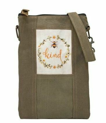 'Bee Kind' Army Tent Cross body