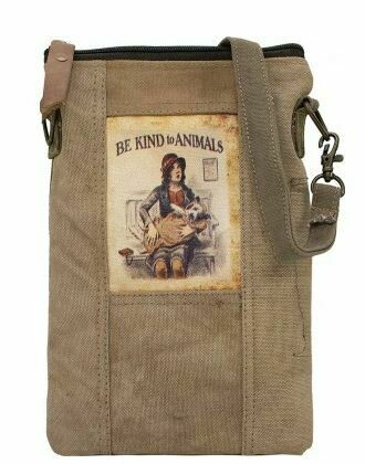 'Be kind to Animals'  army tent crossbody