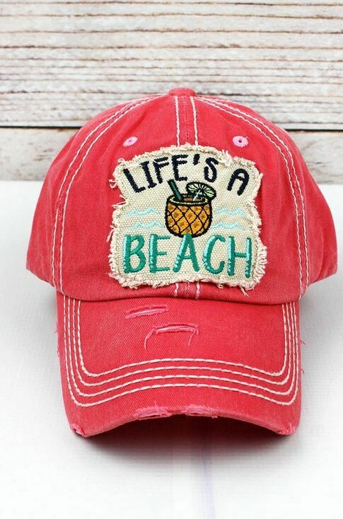 Salmon Life's A Beach Hat
