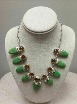 Green Copper Turquoise and Citrine