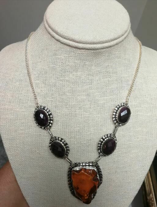 Amber/ Ruby Necklace