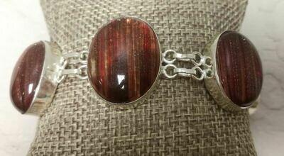 Diacroic Glass Sterling Silver Bracelet
