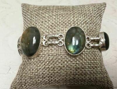Labrodite Sterling Silver Bracelet