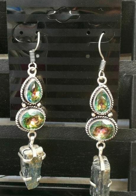 Kyanite Mystic Topaz Sterling Silver Earrings