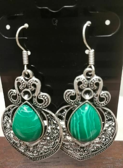 Malachite Sterling Silver Earrings