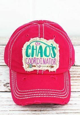 Distressed Hot Pink 'Chaos Coordinator' Cap